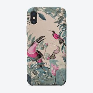 Pink Tropical Toucans Phone Case