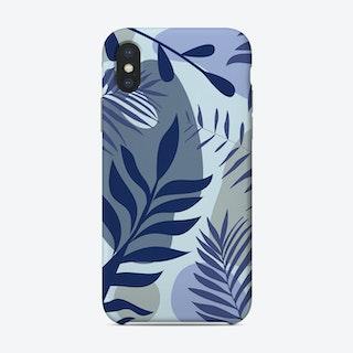 Blue Foliage Phone Case