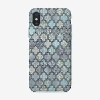 Morrocan Tiles Teal Blue Phone Case