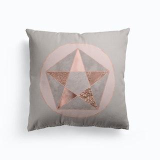 Blush Copper Pentagon Cushion