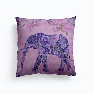 The Dreaming Elephant Canvas Cushion