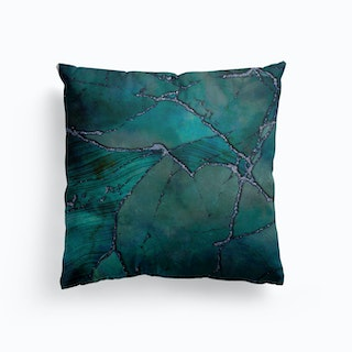 Marble Elegance Turquoise Teal Canvas Cushion