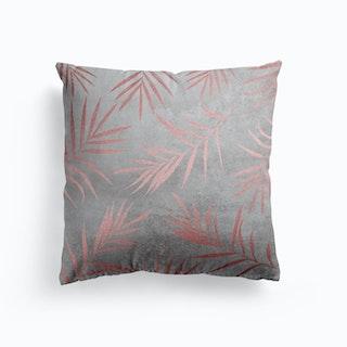 Rose Gold Leaf Concrete Cushion
