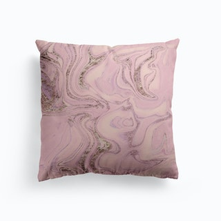 Pink Marble Glamour Cushion