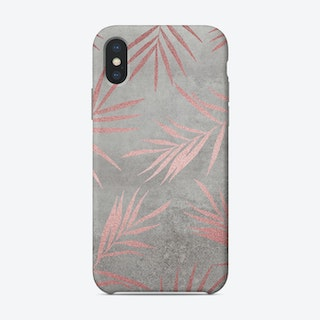 Rose Gold Leaf Concrete Phone Case