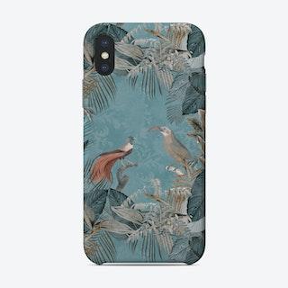 Birds Of Paradise Pastel Blue Phone Case