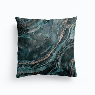 Gemstone Mix Dark Teal Canvas Cushion