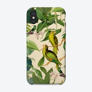 Green Jungle Parakeets Phone Case