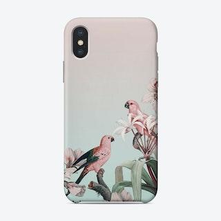 Pastel Parrots Paradise Phone Case