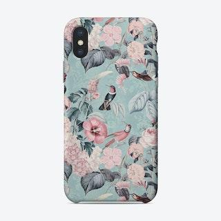 Hummingbirds Paradise Turquoise Phone Case