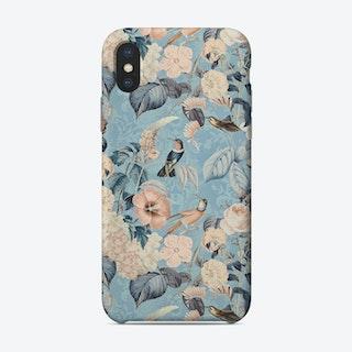 Hummingbirds Paradise Blue Phone Case
