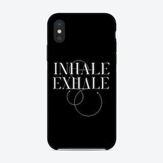 Inhale Exhale Black Phone Case
