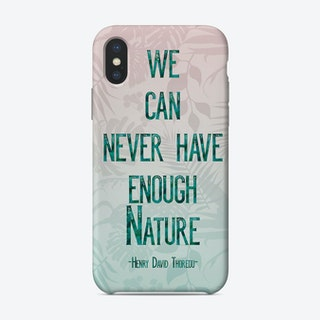 Nature Quote Palm Leaves Phone Case