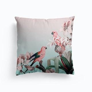 Pastel Parrots Paradise Cushion