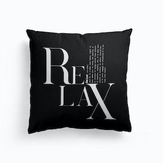 Relax Black Cushion