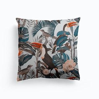 Toucan Jungle Canvas Cushion
