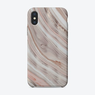 Rosegold Apricot Marble Phone Case