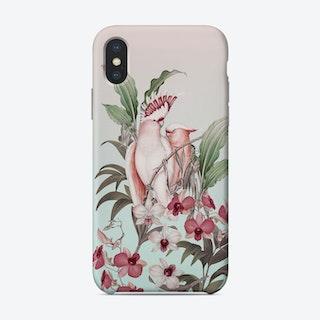 Pastel Cockatoos Paradise Phone Case