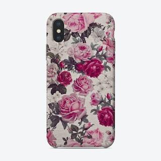 Pink Vintage Roses Phone Case