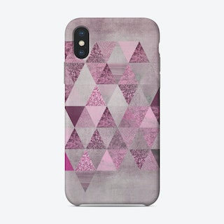 Pink Glamour Triangles Phone Case
