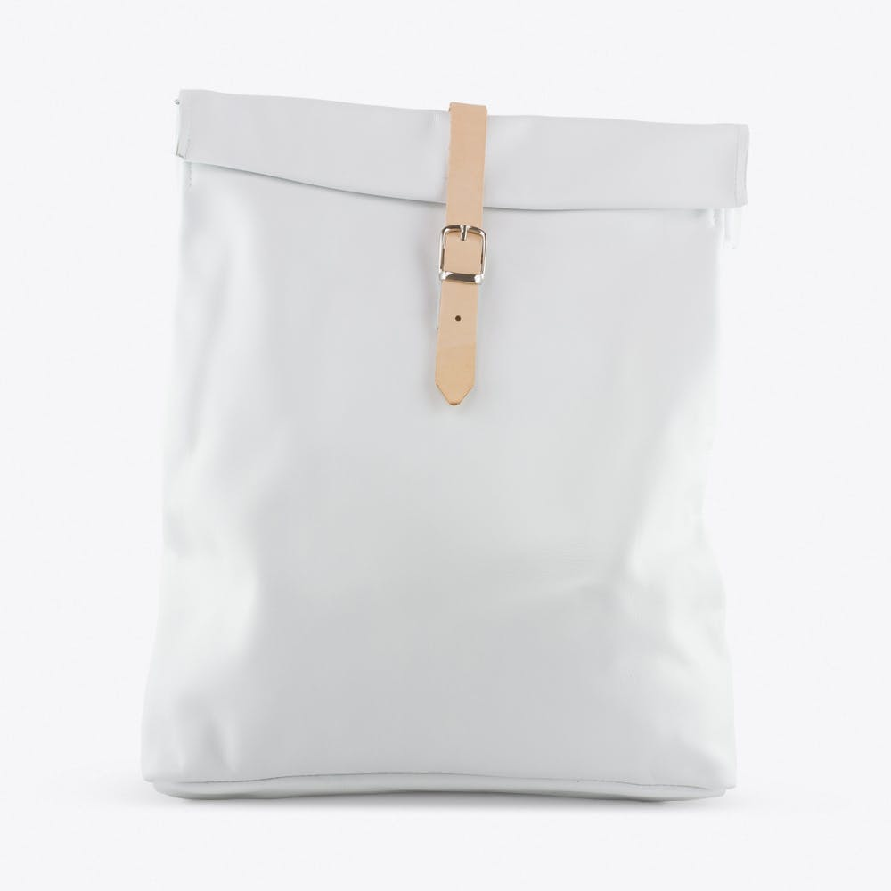 Rolltop Backpack in White