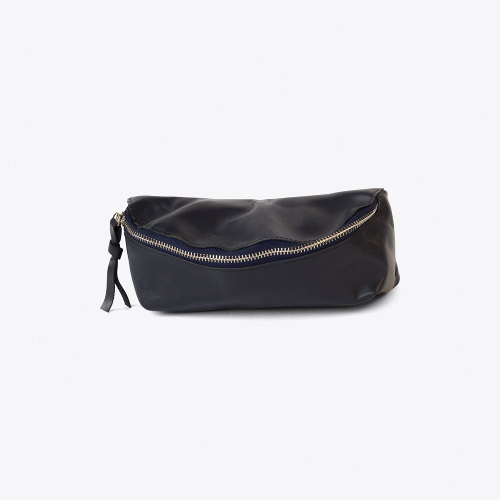 Leather Bumbag in Blue