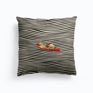 An Illusionary Ride Canvas Cushion