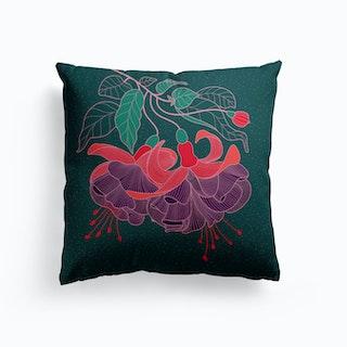 Fuchsia Flower Cushion
