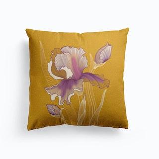 Iris Flower Cushion