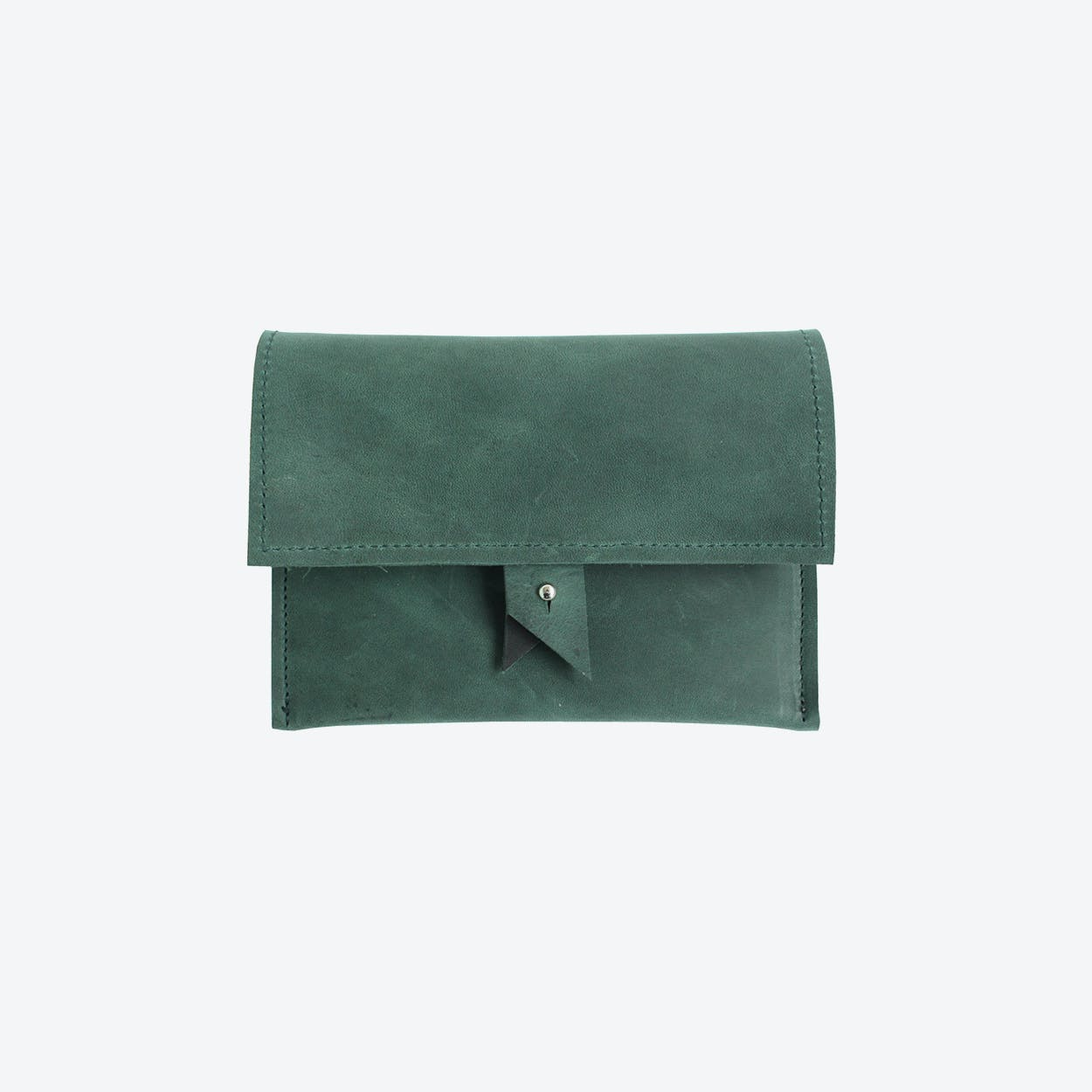Two - Colour Wallet - Green