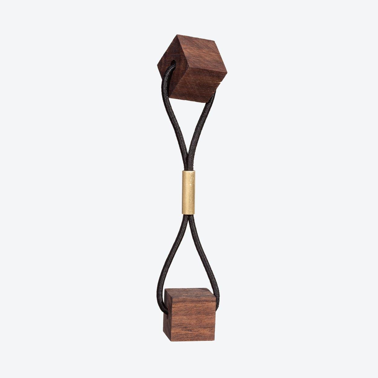 Blocks Hairband - Walnut