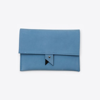 Two-Colour Wallet in Blue
