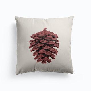 Red Pine Cone Cushion