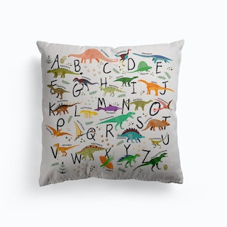 Dinosaur Alphabet Canvas Cushion