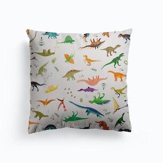 Dinosaur Pattern Canvas Cushion