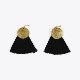 Nairobi Tassel Earrings in Black