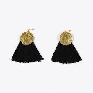 Nairobi Tassel Earrings in Black