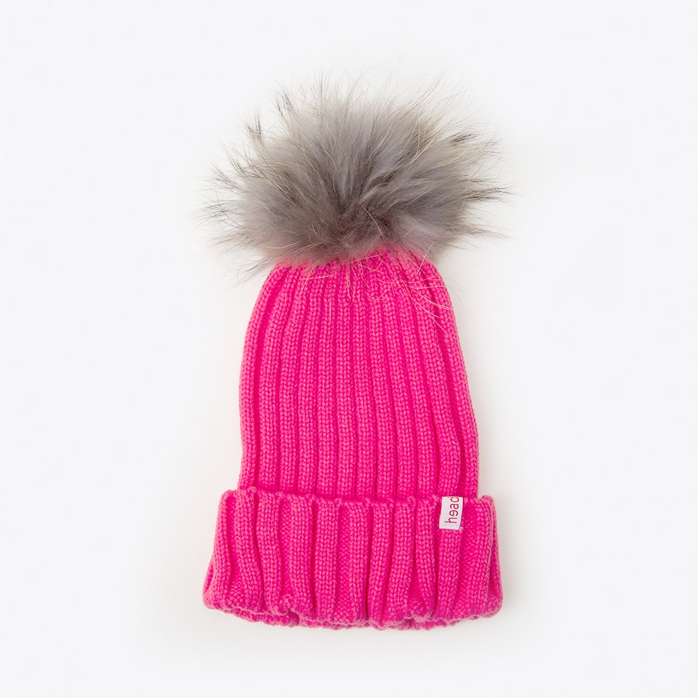 82719f01cd7 beanie with removable natural fur pompom is made of polyacryl and measures  18 x34cm .
