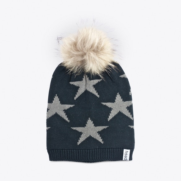 5085c5bb3ac Black Star Beanie with Pompom by headcakes. Discover Hats on Fy
