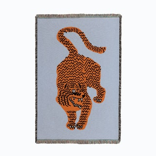 Tiger Blue Small Woven Throw