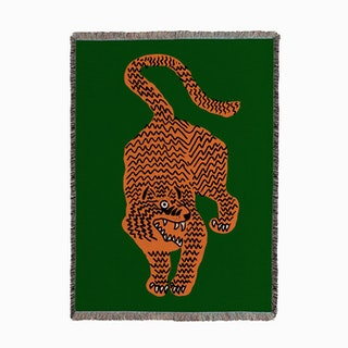 Tiger Green Woven Throw