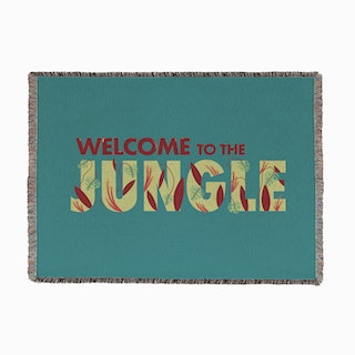 Welcome To The Jungle Woven Throw