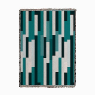 Kilim Teal Woven Throw