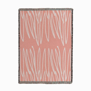 Doodle Pink Woven Throw