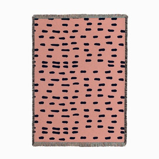 Doodle Dash Pink Blue Woven Throw