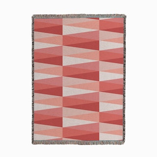 Tri Pink Woven Throw