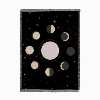 Moon Phases Woven Throw