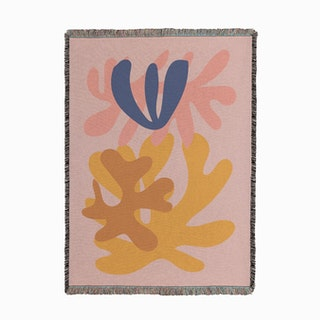Pink Cut Out Woven Throw