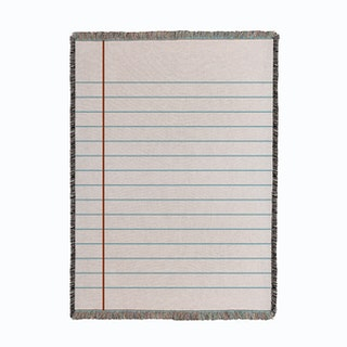 Empty Notebook Page Woven Throw