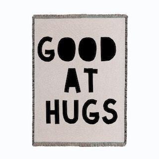 Good At Hugs Woven Throw